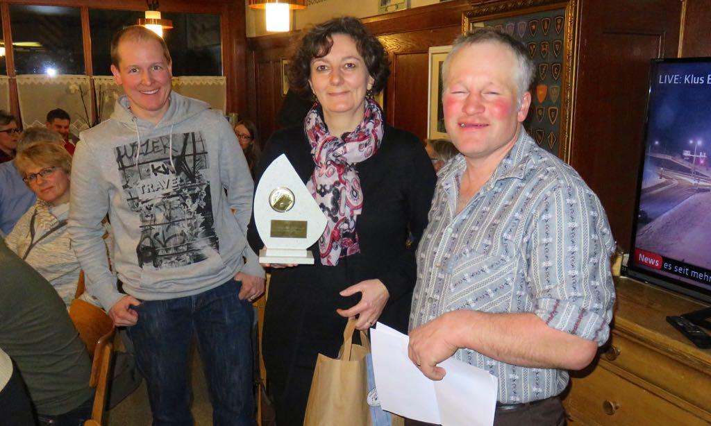 Von links: Simon Hofmann, Andrea Brandes und Stefan Gygax